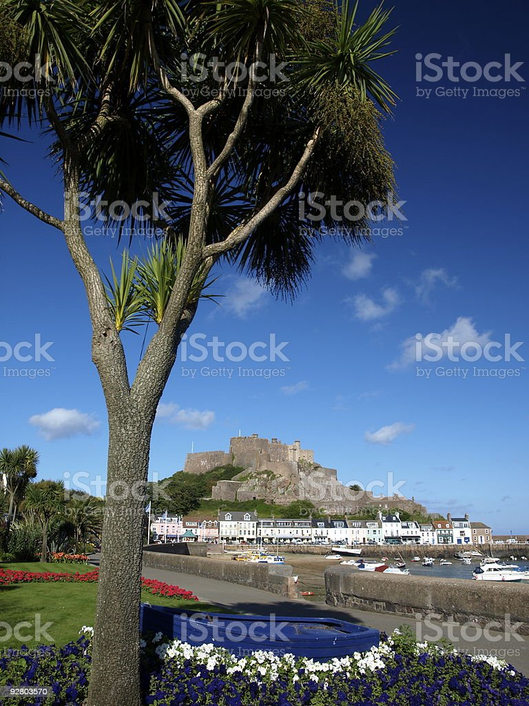 Gorey Castle ,Jersey. stock photo