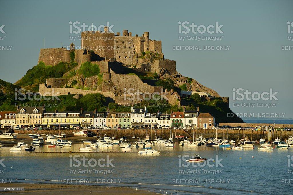 Gorey Castle, Jersey, U.K. stock photo