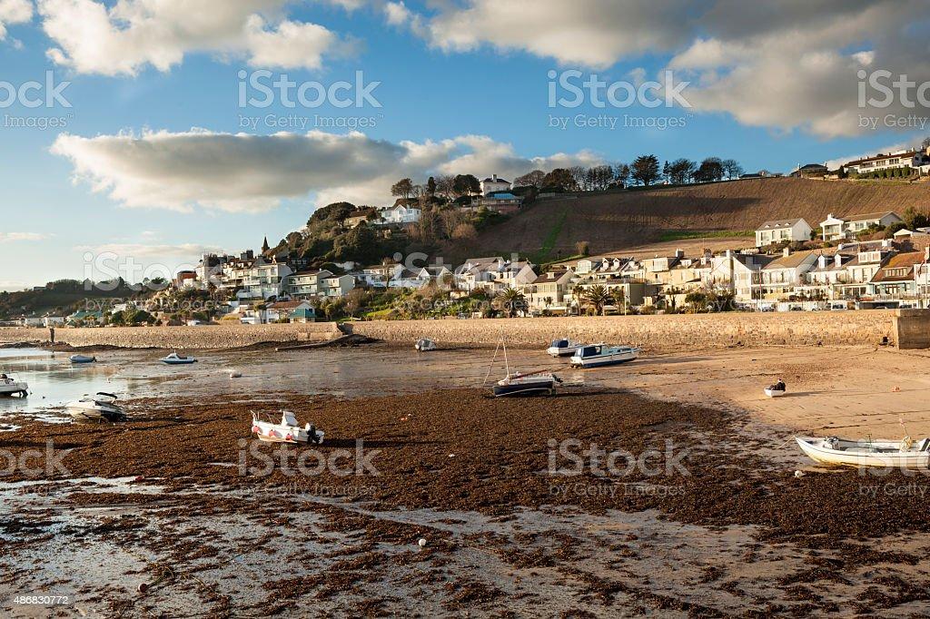 Gorey Harbour at Jersey stock photo