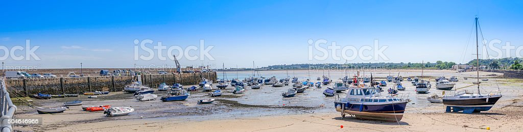 Gorey Harbour, Jersey - Panoramic stock photo