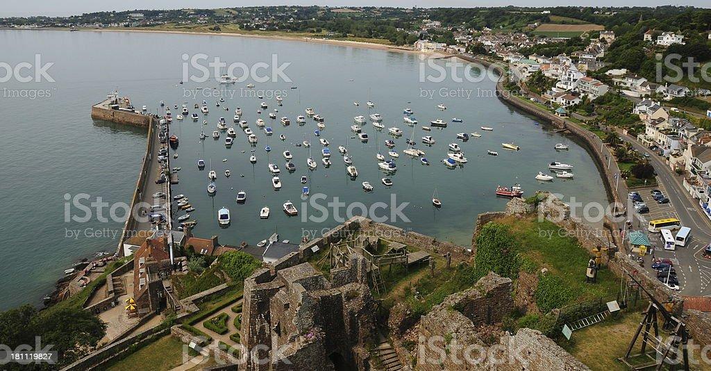 Gorey harbour, Jersey. royalty-free stock photo