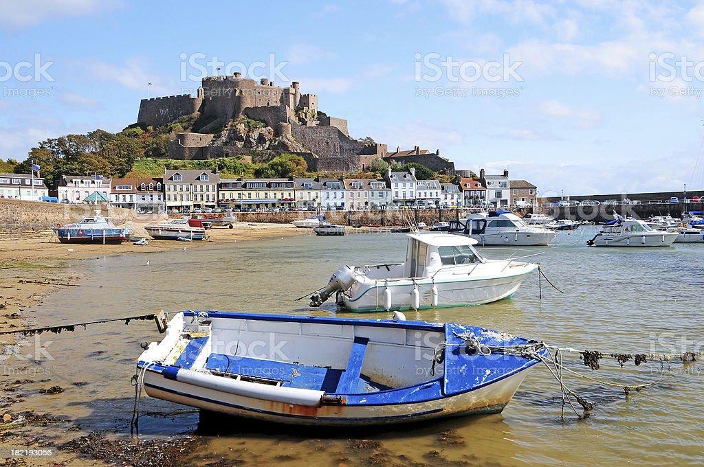 Gorey Harbour Jersey royalty-free stock photo