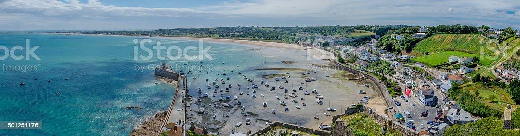 Gorey Harbour Panoramic stock photo