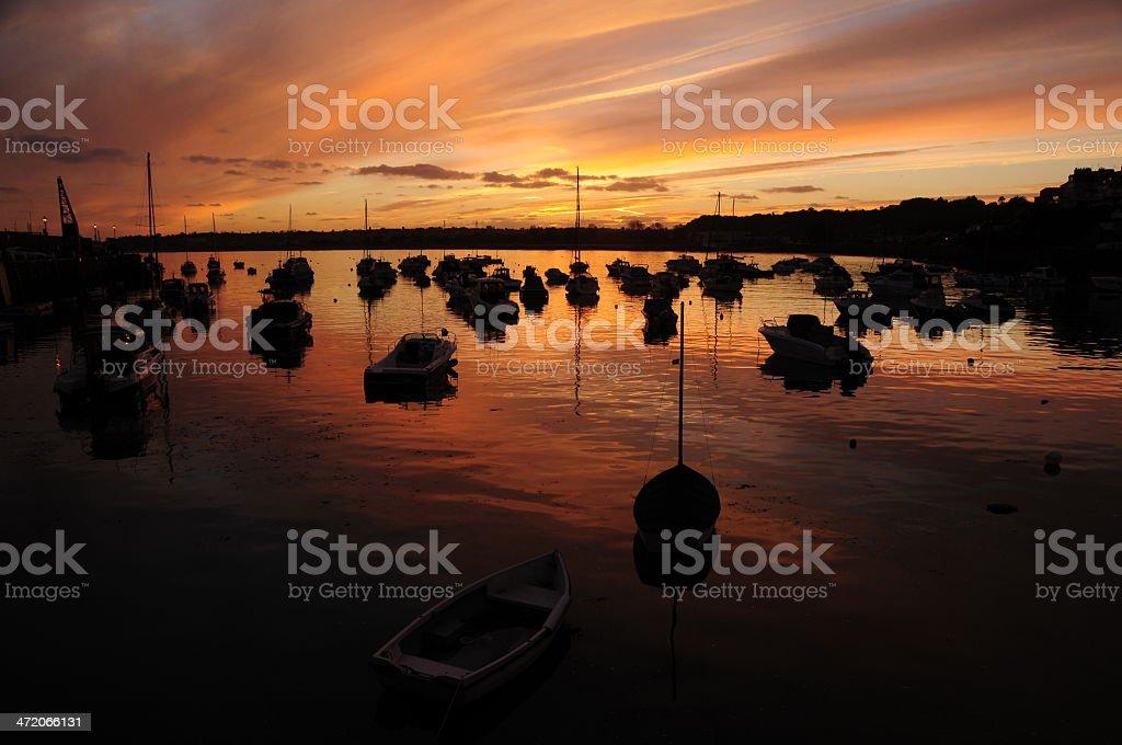 Gorey harbour,Jersey,U.K. stock photo