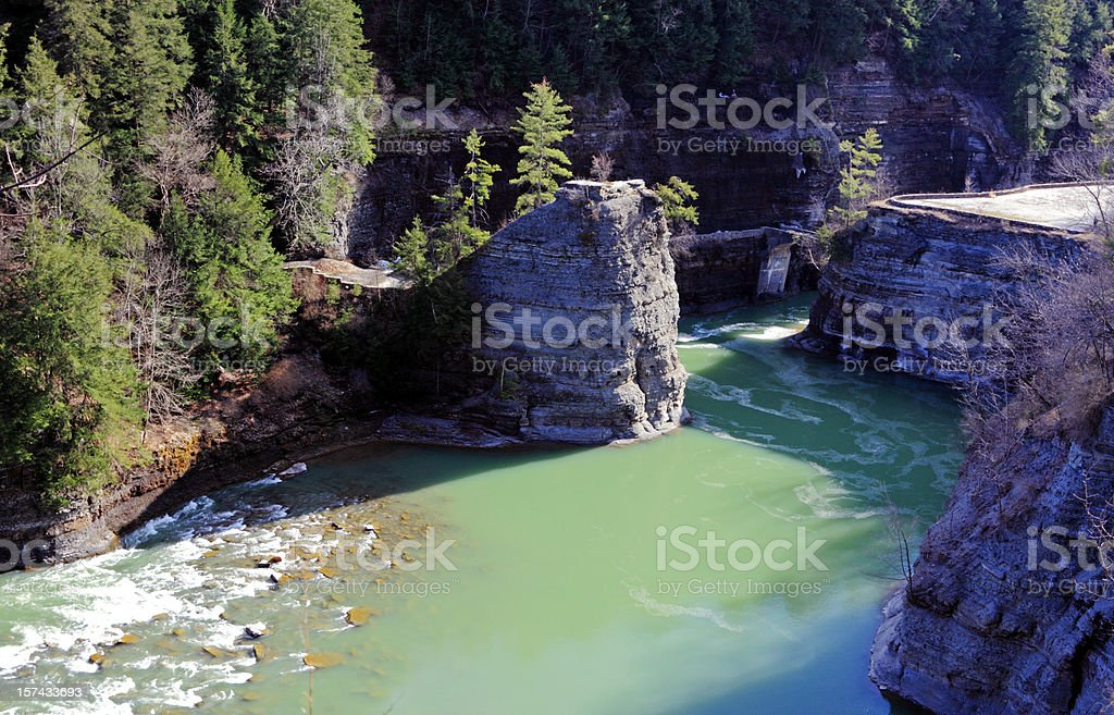 Gorge Along Genesee River stock photo