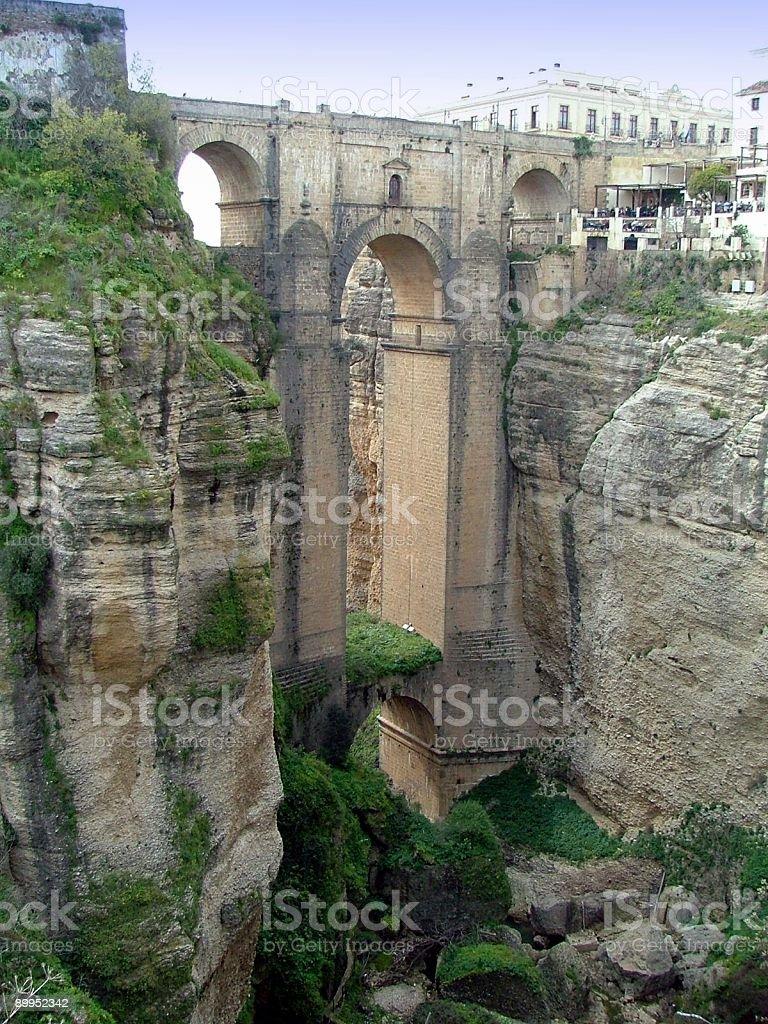 Gorge and Bridge in Ronda, Spain royalty-free stock photo
