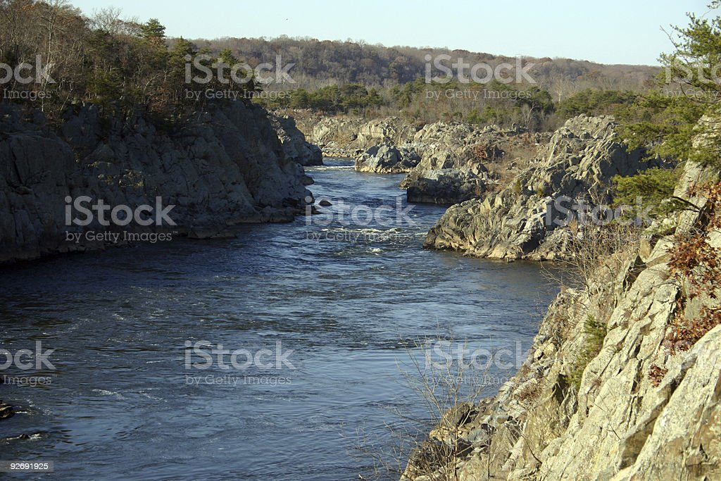 gorge at great falls, md stock photo