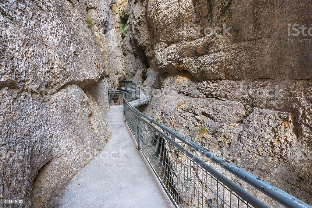 Gorge La Yecla€ in Burgos, Spain. stock photo