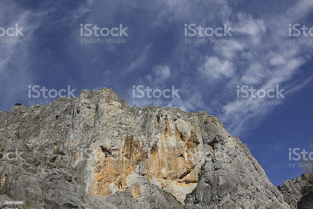 Gorge Nature Park 'La Yecla' in Burgos ,Spain stock photo