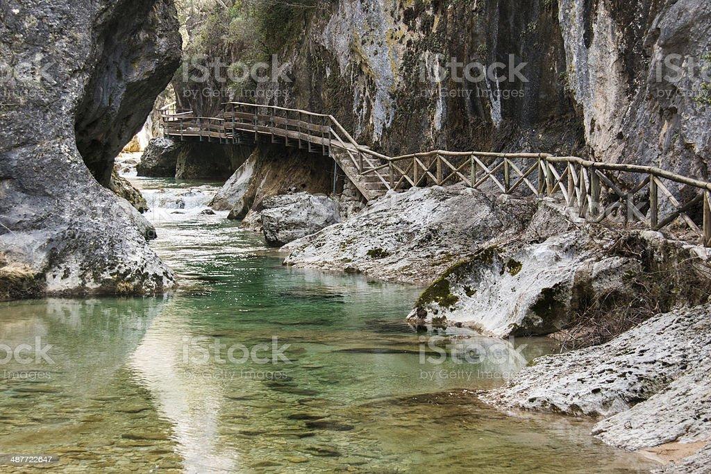 Gorge near Rio Borosa in Cazorla National Park stock photo