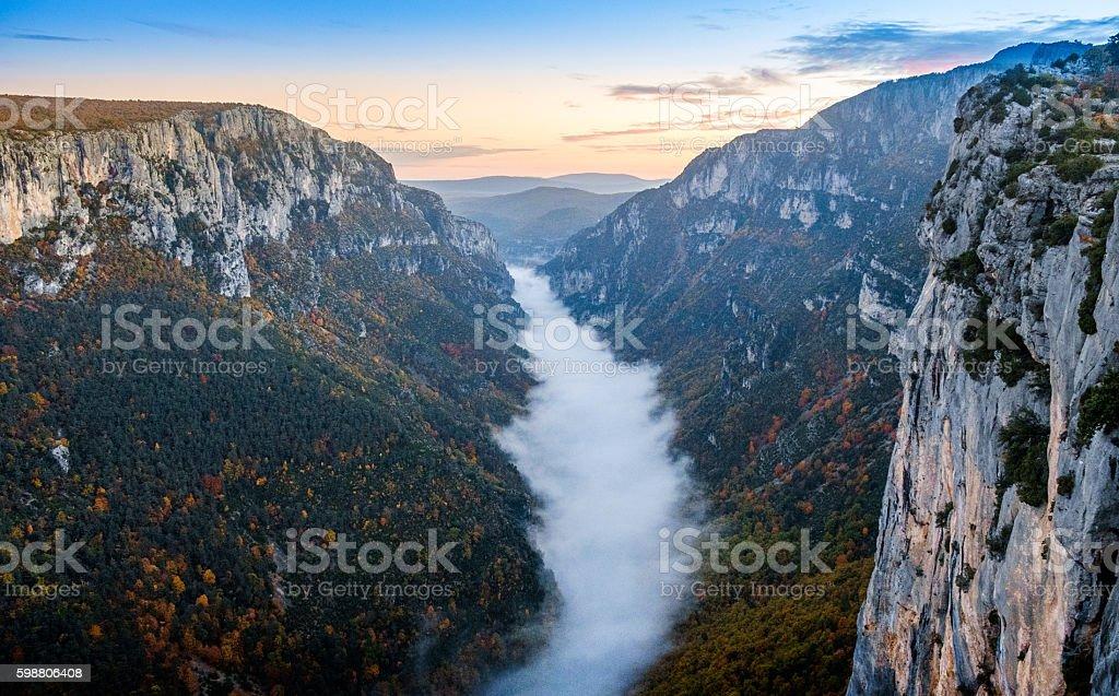 Gorge of Verdon, France stock photo