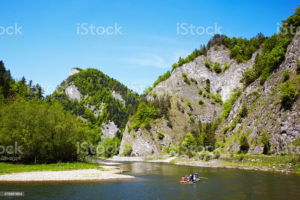 Gorge rafting stock photo