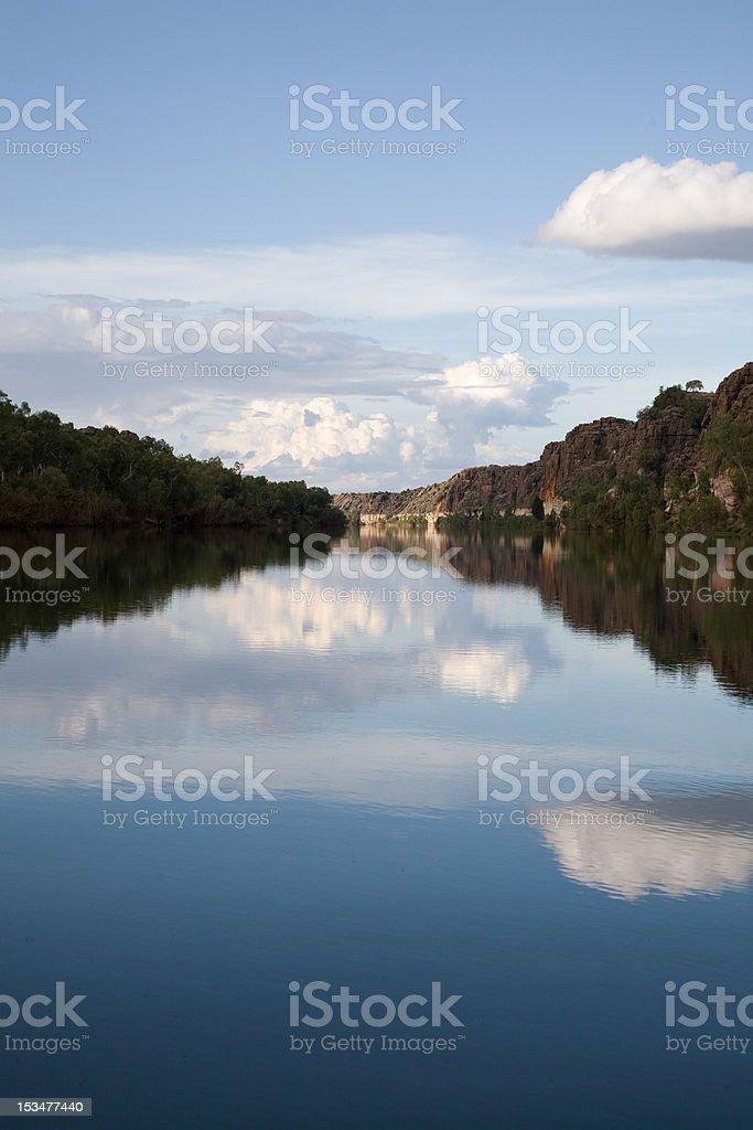 Gorge reflection royalty-free stock photo