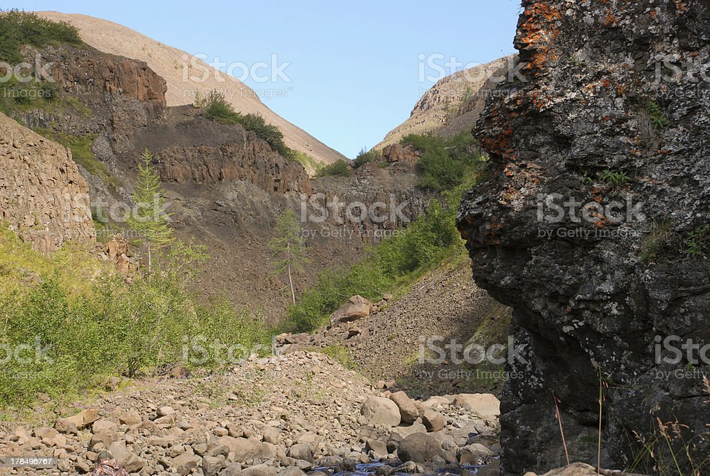 Gorge source Bucharama. royalty-free stock photo