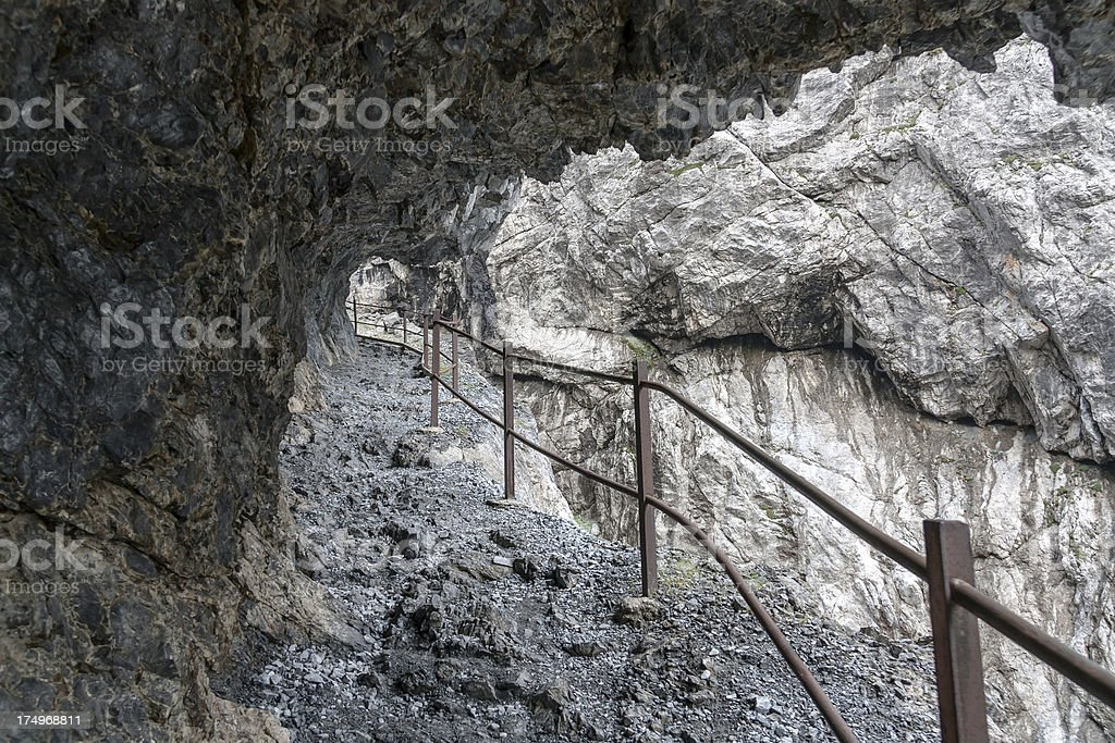 Gorge Val d' Uina stock photo