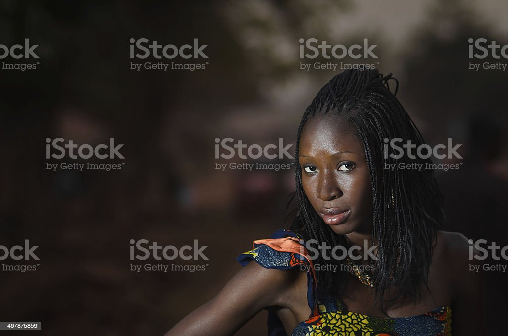 Gorgeous African Fashion Model (Black Woman) stock photo
