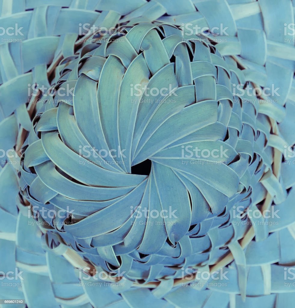 gorgeous amazing closeup view of top hat part made of dry palm leaf stock photo