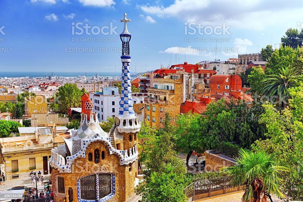 Gorgeous and amazing Park Guel. stock photo