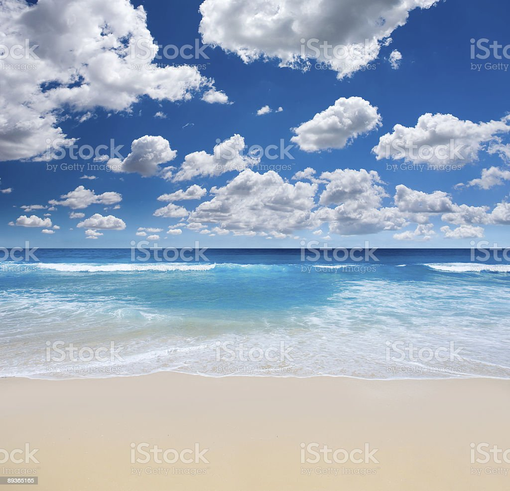 Gorgeous Beach Landscape royalty-free stock photo