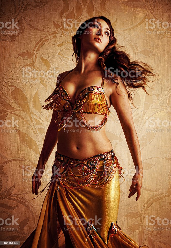 Gorgeous Belly Dancer stock photo