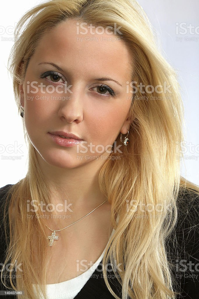 gorgeous blond girl royalty-free stock photo