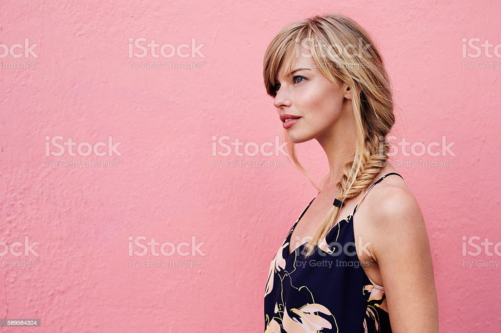 Gorgeous blond stock photo