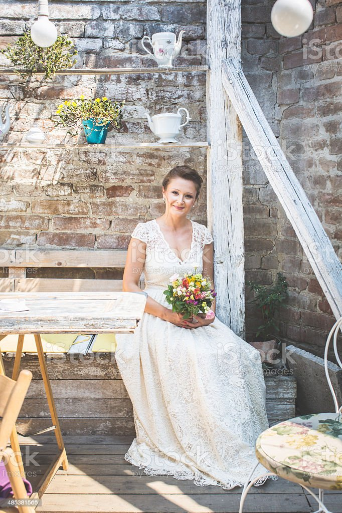 Gorgeous bride stock photo