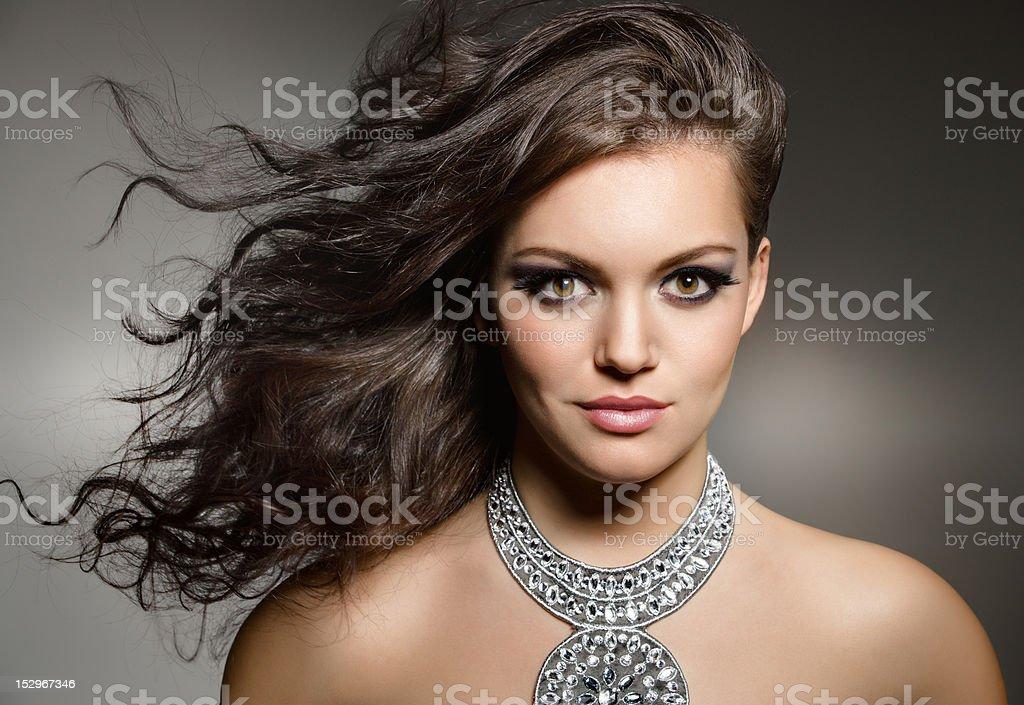 gorgeous brunette royalty-free stock photo