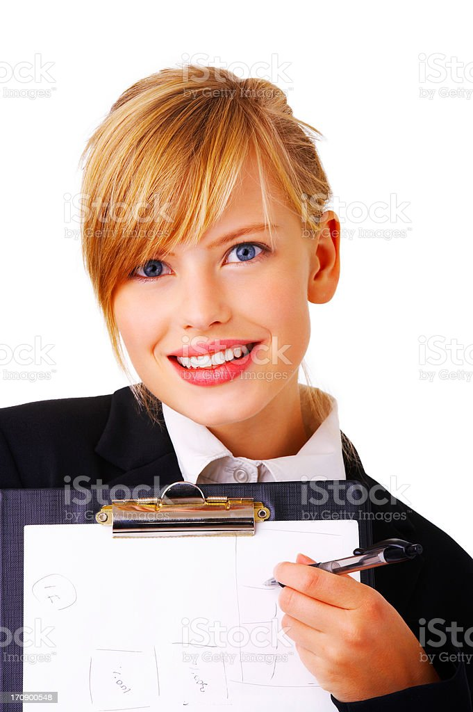 Gorgeous business woman stock photo