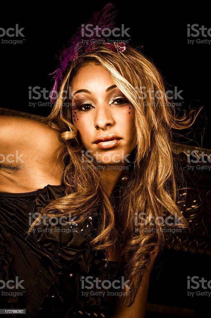 Gorgeous Cabaret Girl stock photo