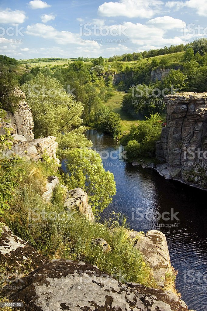 Gorgeous canyon with river royalty-free stock photo