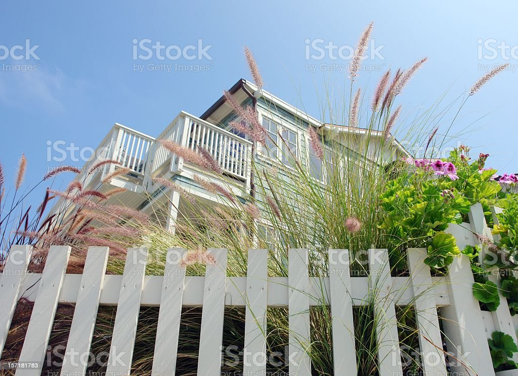 Gorgeous Cape Cod Home stock photo