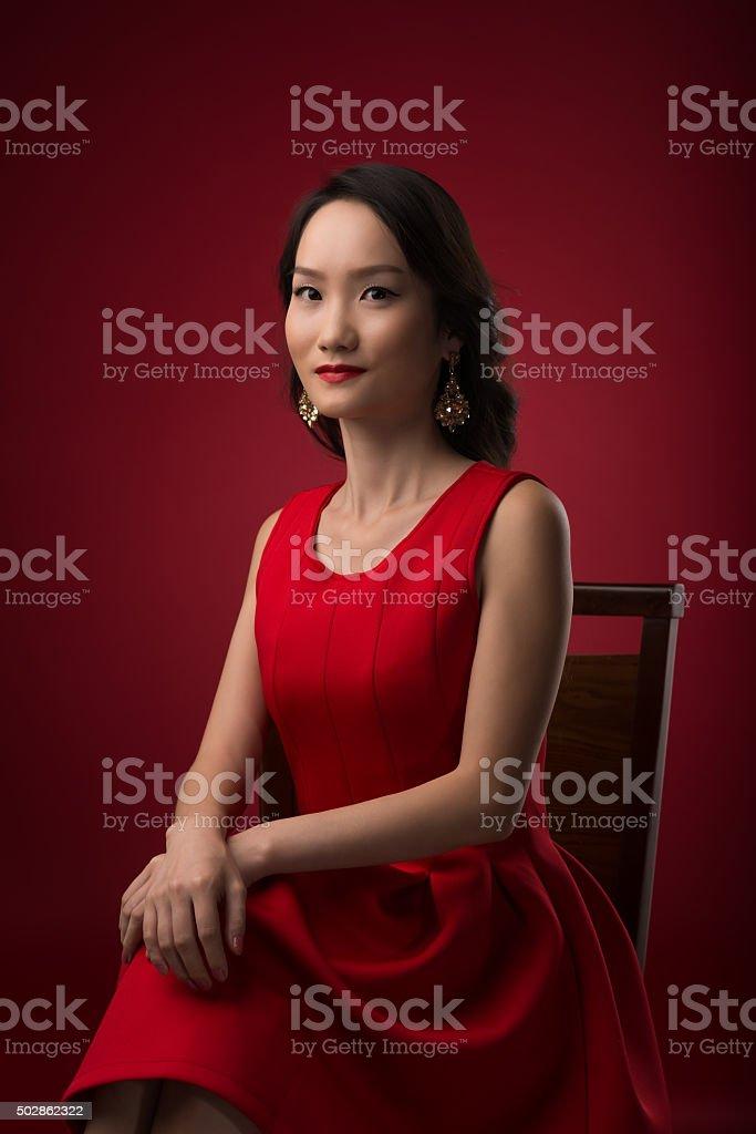 Gorgeous Chinese woman stock photo