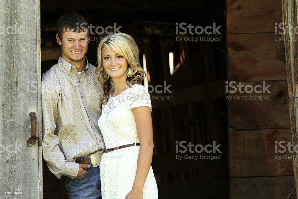 Gorgeous Country Couple royalty-free stock photo