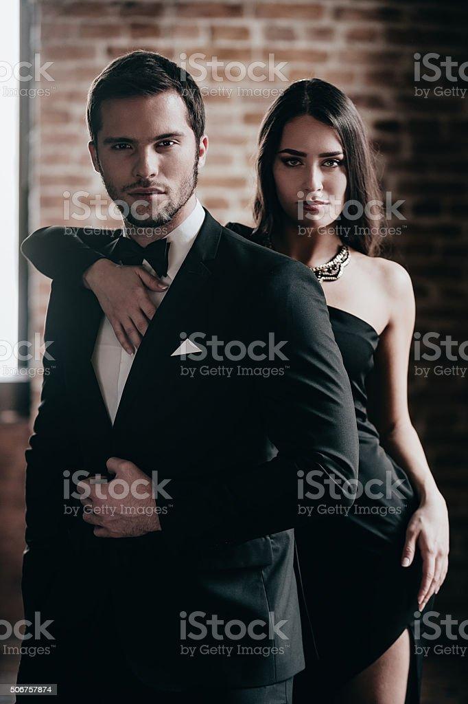 Gorgeous couple. stock photo