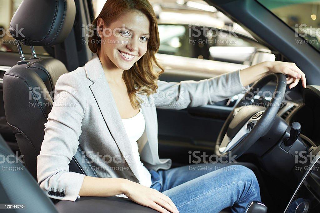 Gorgeous driver royalty-free stock photo