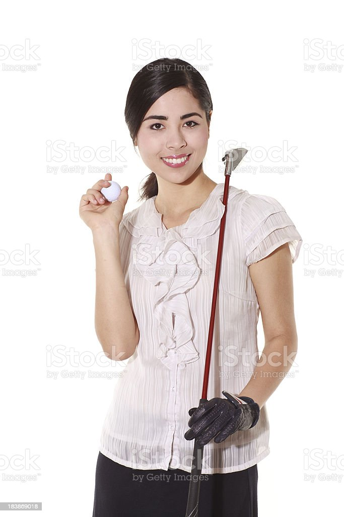 Gorgeous female golf player royalty-free stock photo