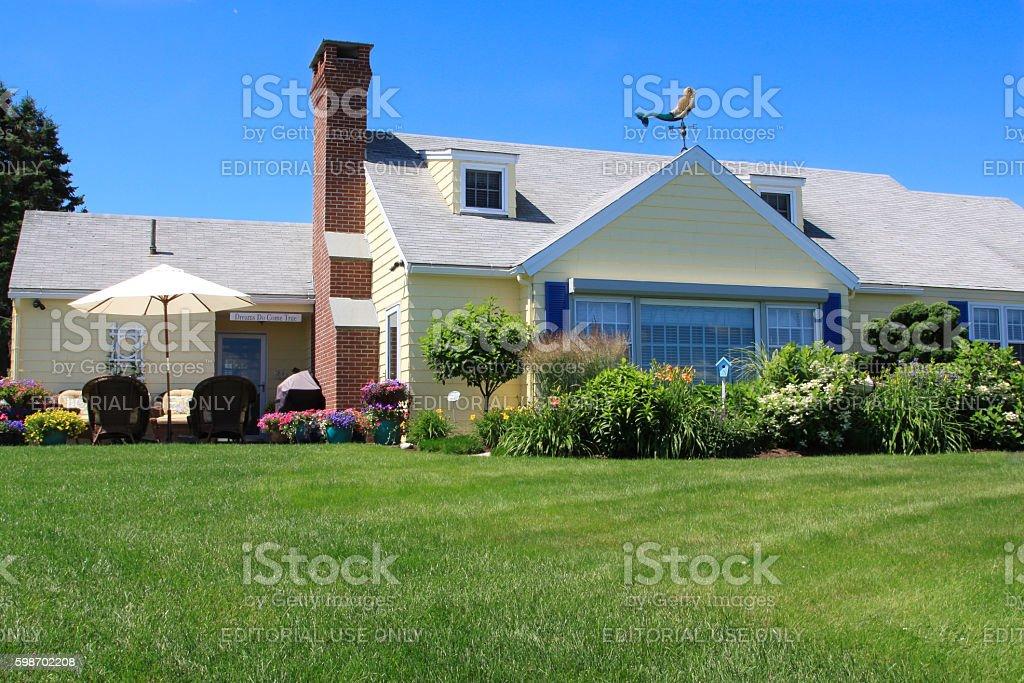 Gorgeous House on Marginal Way, Ogunquit, Maine, USA. stock photo