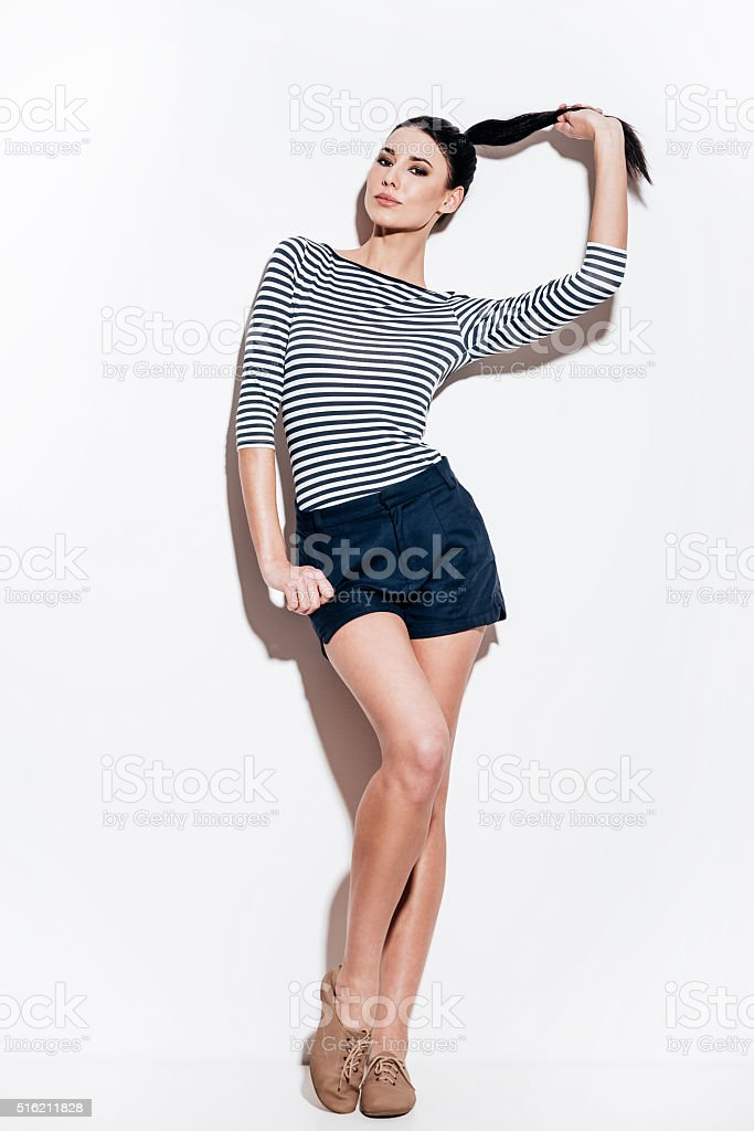 Gorgeous in her style. stock photo