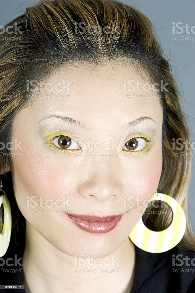 Gorgeous Japanese Woman Smiling royalty-free stock photo