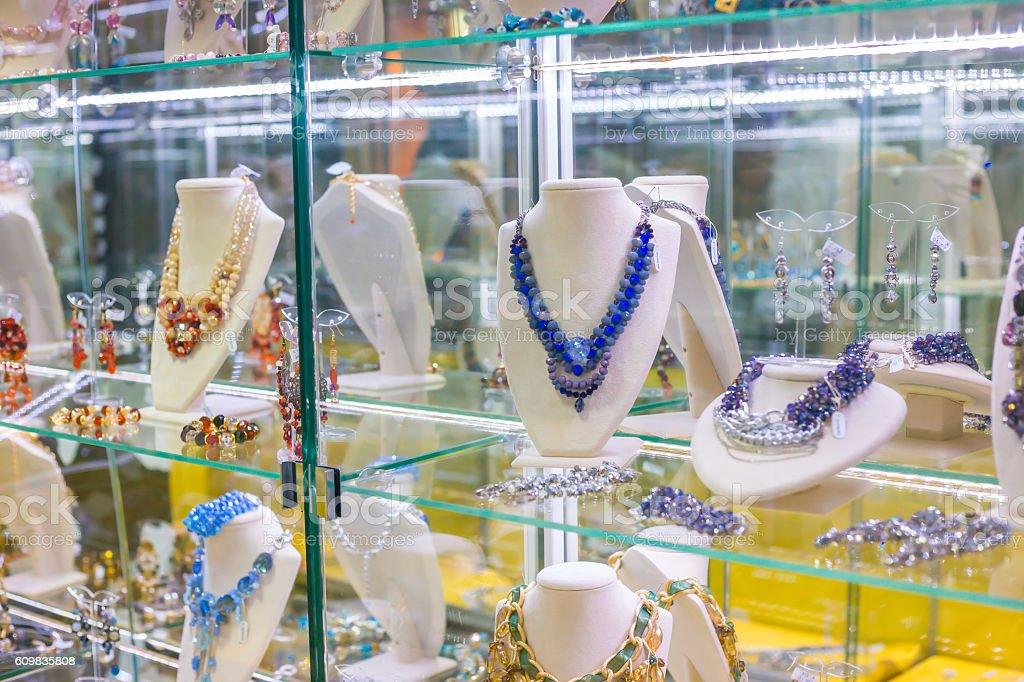 Gorgeous Jewelry Shop Window stock photo