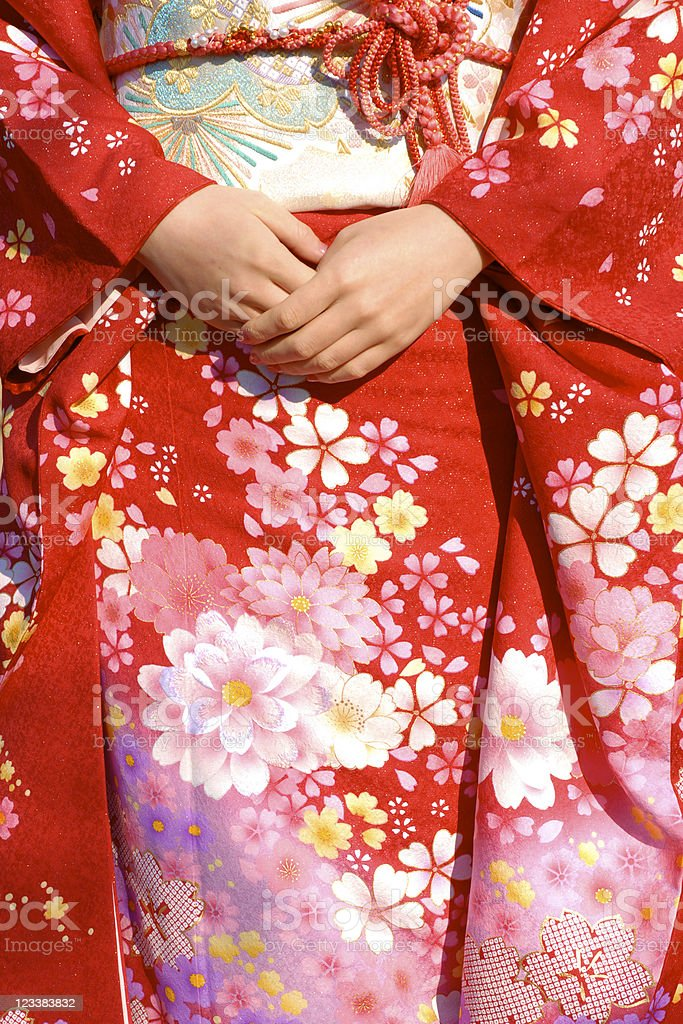 Gorgeous kimono??????? stock photo