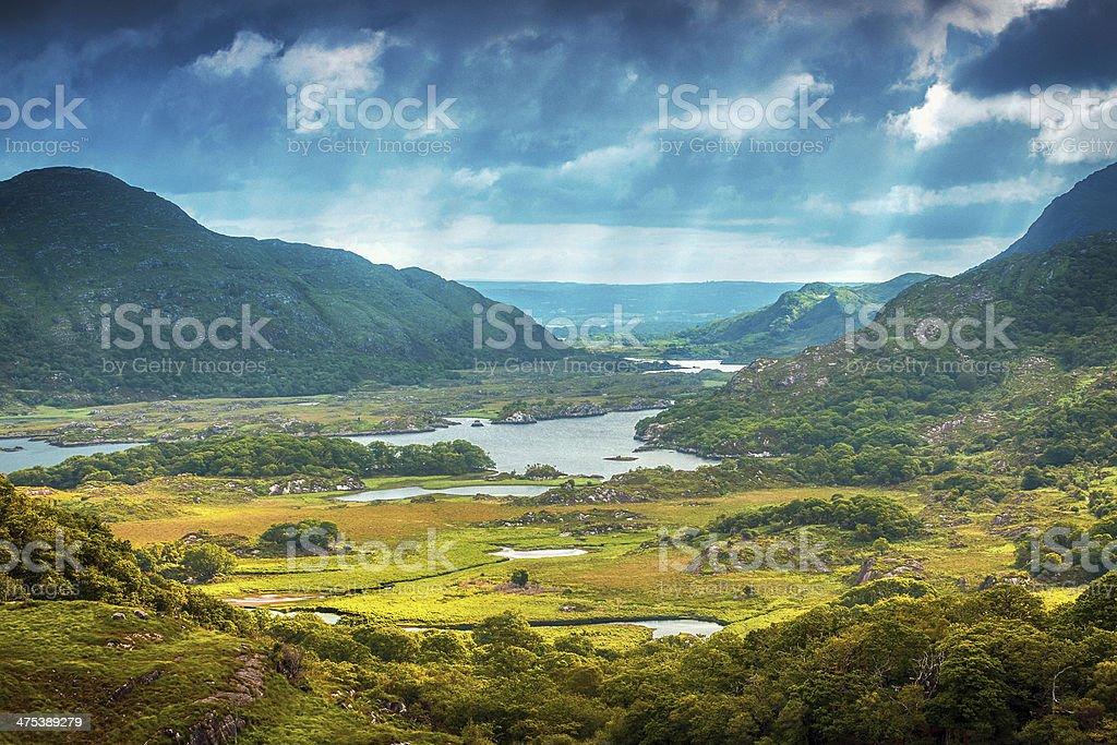 Gorgeous landscape in Ireland stock photo