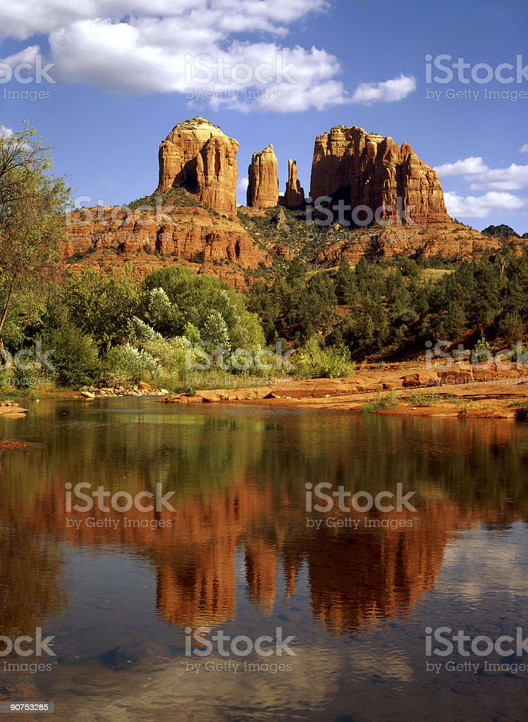 Gorgeous landscape of Oak Creek Canyon stock photo