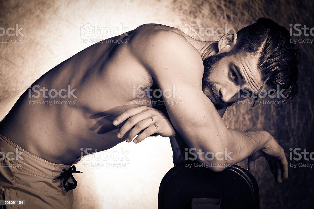 Gorgeous Male stock photo