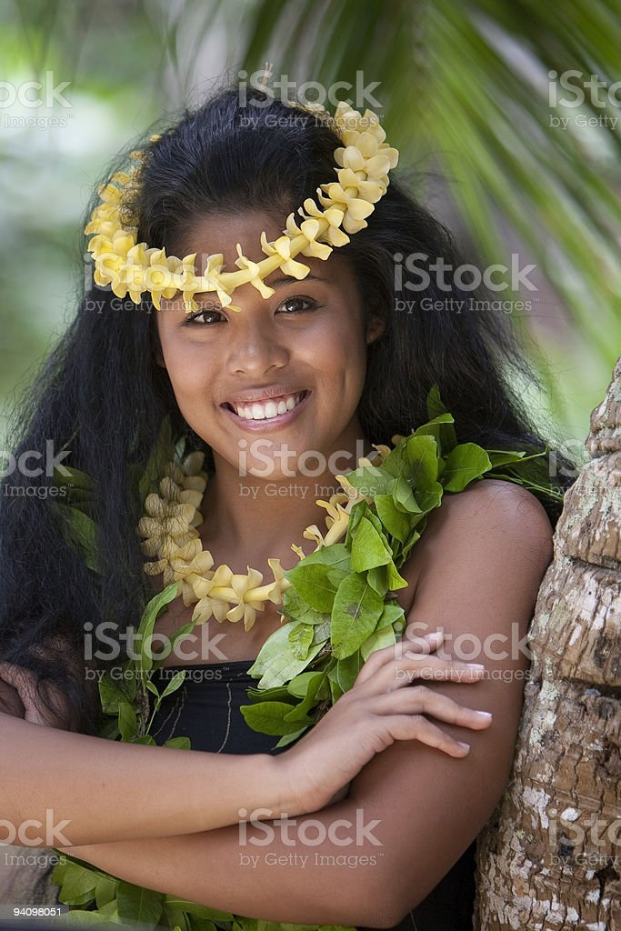 Gorgeous Pacific Islander Woman stock photo