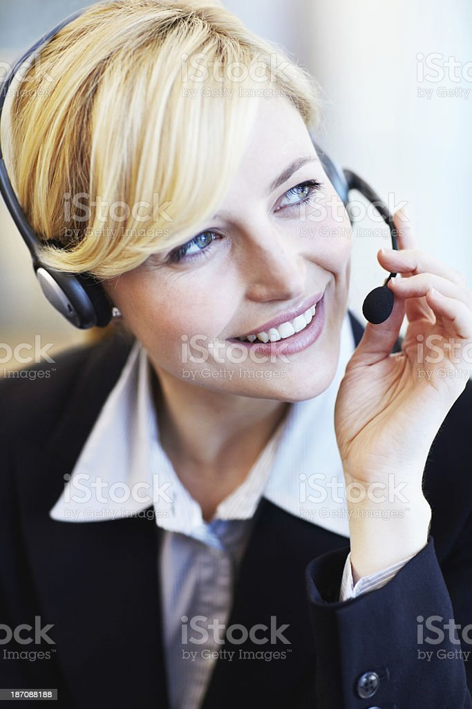 Gorgeous personal assistant royalty-free stock photo