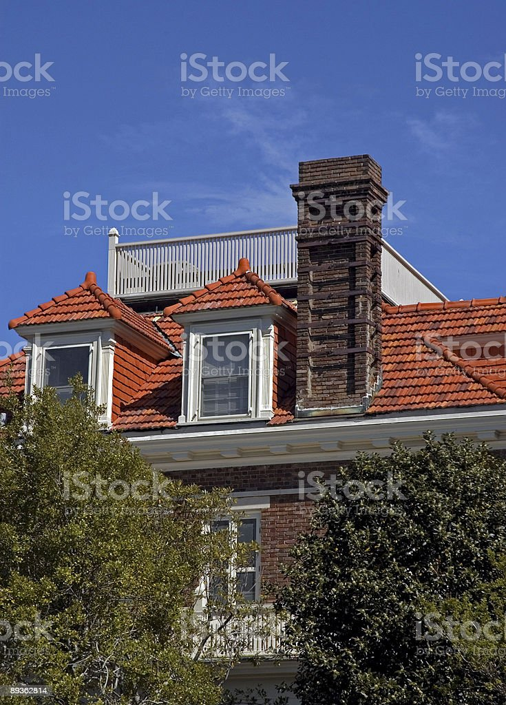 Gorgeous Rooftops in Charleston II royalty-free stock photo