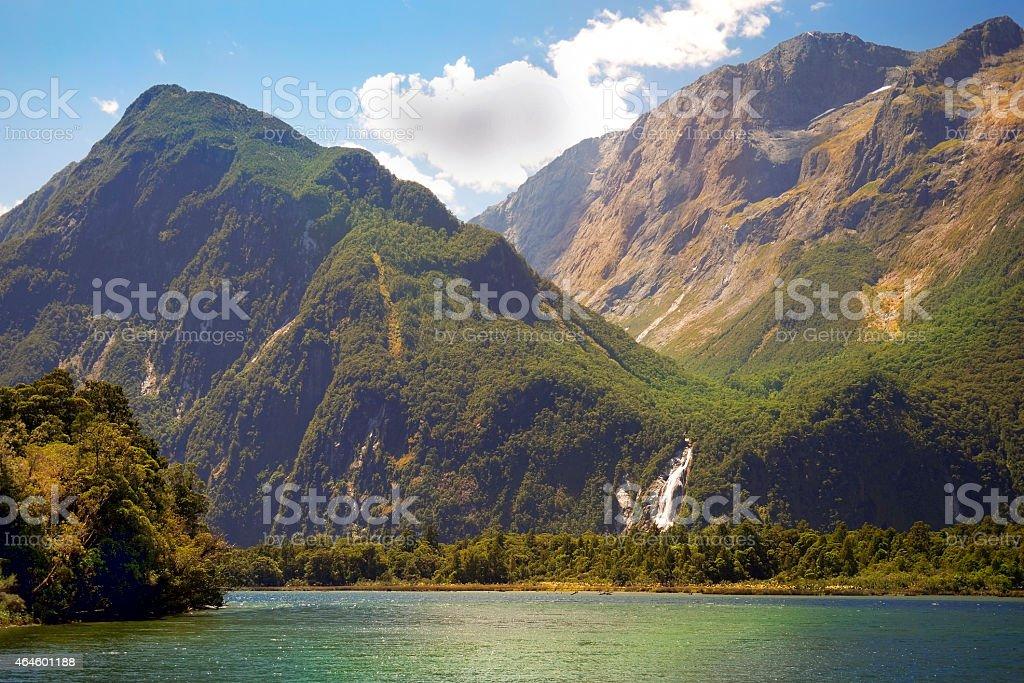 gorgeous scenery of New Zealand stock photo