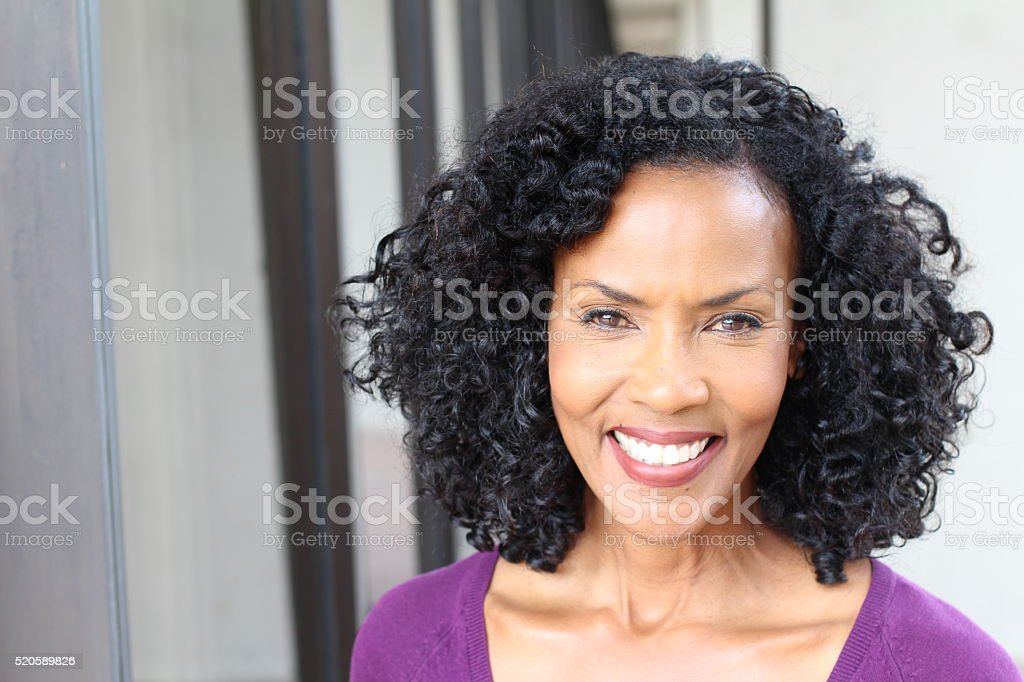 Gorgeous senior African American woman stock photo